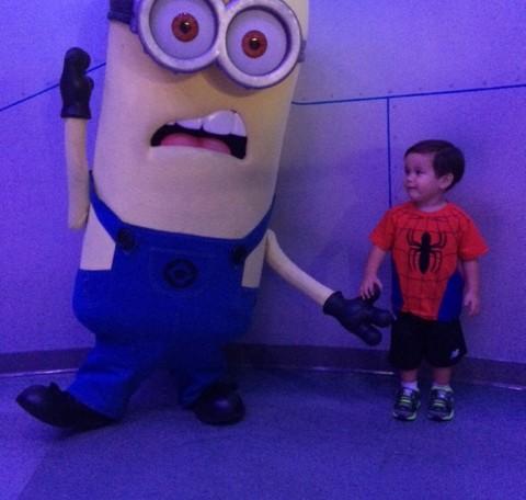 AJ with a Minion